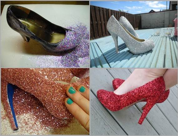 Omg diy lace glitter and spray paint heels diy stuff for Diy shoes design